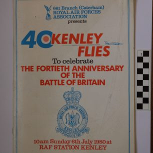 RAFA (Caterham) Battle of Britain 40th Anniversary Kenley Flies Programme, 6 July 1980