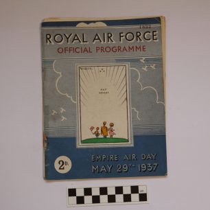 Image of the cover of the RAF Kenley 1937 Empire Air Day Programme