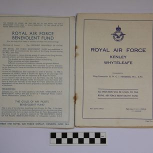 Image of inside cover of the RAF Kenley 1937 Empire Air Day Programme