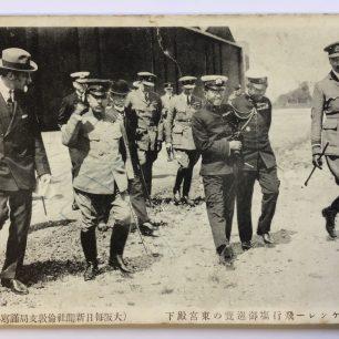 Postcard of Hirohito's visit to RAF Kenley, 16/05/1921. | Roger Packham.