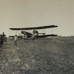 Hirohito's visit to Kenley - a Vickers Vimy. Dated 16/5/21 on reverse.  | Roger Packham