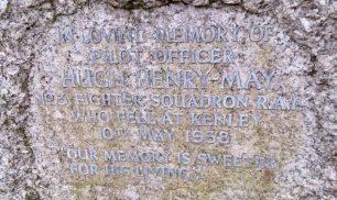 The grave of Pilot Officer Hugh Henry May, at St. Luke's churchyard, Whyteleafe. | Neil Quinn