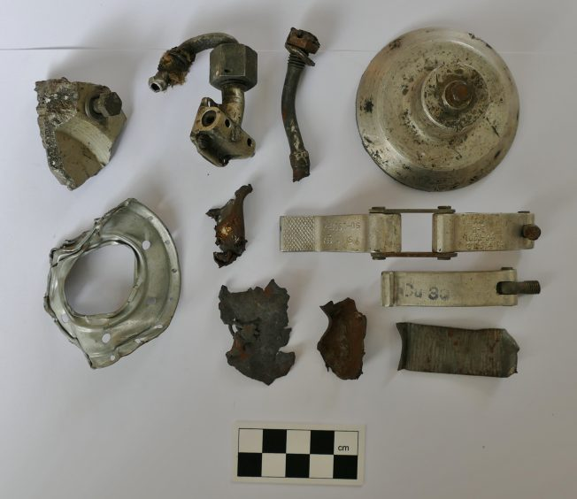 Assorted Parts of a Crashed Hurricane