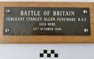 Memorial Plaque for Sergeant Stanley Allen Fenemore