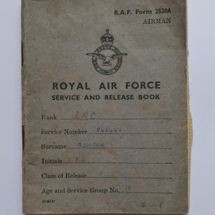 RAF Service and Release Book of EJ Ashton