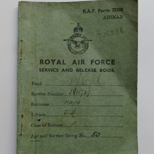 RAF Service and Release Book of JD Mann
