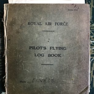 Cover of Pilot's Flying Log Book belonging to C. B. Brown. | Peter Brown