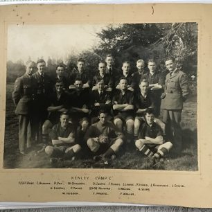 Kenley 'C' camp football team 1942-43. F/Sgt. Rose standing on the left.  | Bea Howells and family.