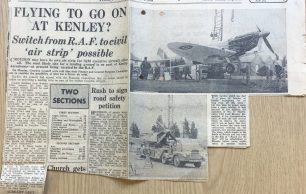 """Flying to go on at Kenley?"" Newspaper Article"