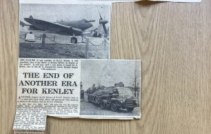 """""""The End of Another Era for Kenley"""", Newspaper Article"""