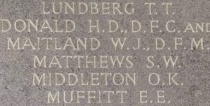 F/Lt. Matthews remembered on the Runnymede Memorial. | Jane Collman Williams