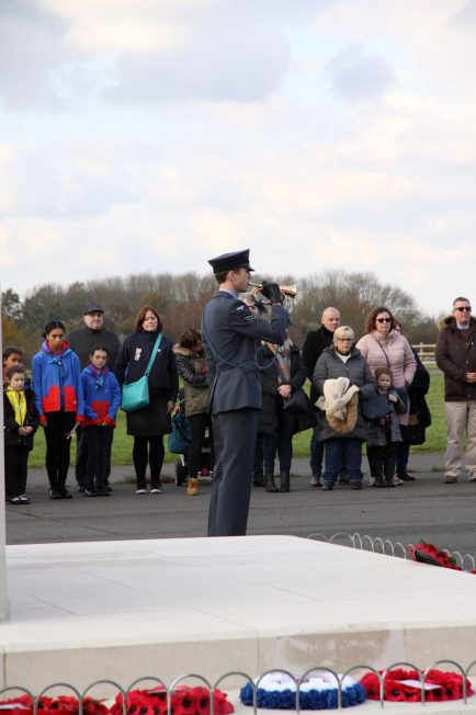 RAF Bugler plays