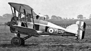 Gloster Gamecock I (J8409) of No.23 Fighter Squadron taking off from Northolt during the Sassoon Cup competition in May 1929, only a few months before it crashed in Wallington.  |