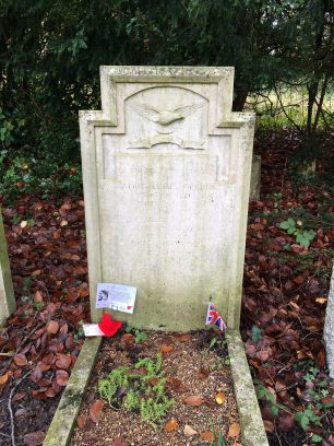 The grave of P/O Holden in St. Luke's churchyard, Whyteleafe. | Linda Duffield