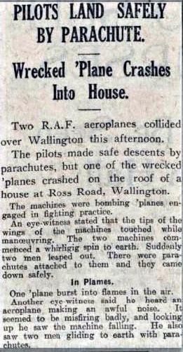 A press clipping about the crash on 7th November, 1929.  | Airport of Croydon website