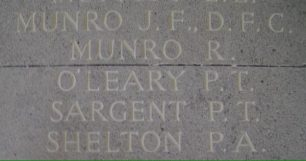 Flight Lieutenant O' Leary remembered at the Runnymede Memorial.