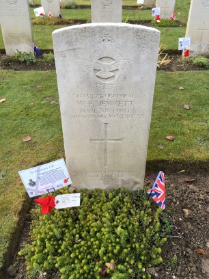 The grave of Corporal Jemmett. Remembrance 2019.  | Linda Duffield