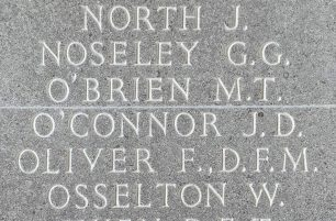 F/Sgt. J. D. O'Connor remembered on the Runnymede Memorial. | Jane Collman Williams