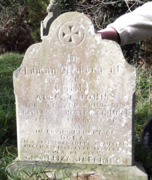 Little Dora Ball's grave in Southampton Old Cemetery, taken 2012.  | Friends of Southampton Old Cemetery