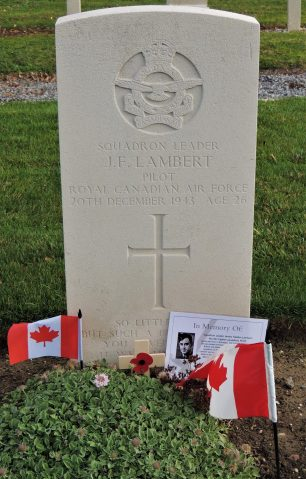 The grave of Squadron Leader James Fielden Lambert. | Andy Cooper