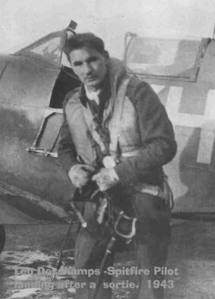 Sergeant Deschamps, killed in action on 4th April, 1943, flying from Kenley.  | Canadian Virtual War Memorial
