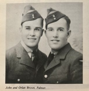 John Arthur and Orlan Roderick Brown, both killed in action during WWII.  |