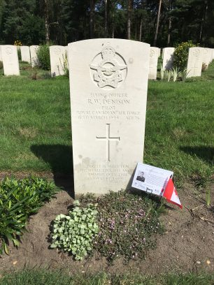 The grave of Flying Officer Denison in Brookwood Military Cemetery. | Linda Duffield