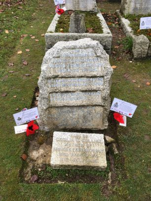 The grave of the Collins brothers. St. Luke's churchyard, Whyteleafe. November 2019 | Linda Duffield