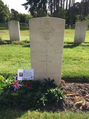 The grave of Sergeant Egan at Brookwood Military Cemetery, June 2019. | Linda Duffield