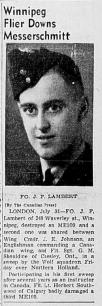 Squadron Leader James Fielden Lambert