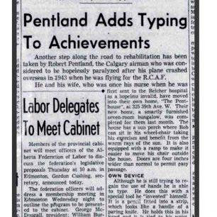 Calgary Herald - 4/1/47.  | Anne Gafiuk