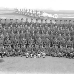 No.3 Squadron, with Hugh Henry-May fifth from left, second row from front. | Surrey History Centre
