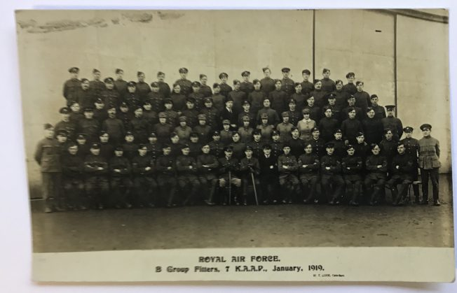 Royal Air Force, B Group Fitters. 7 K.A.A.P. January 1919.  | Roger Packham