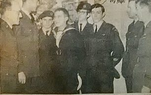 Ian Lund Visits 450 ATC circa 1970. Newspaper clipping