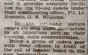 450 Air Training Corps Newspaper Article