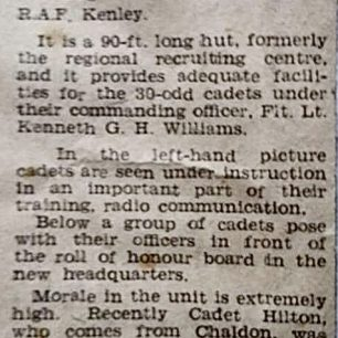 450 Air Training Corps Newspaper Article | Ian Lund