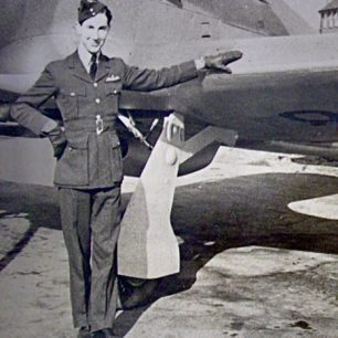Pilot Officer Hugh Henry-May with a Hawker Hurricane. | Copyright Michael Henry-May