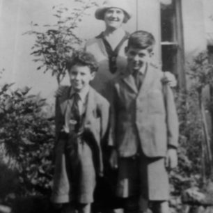 Hugh (left) and Roy (right) with their Mother. | Michael Henry-May