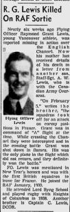 Flying Officer Raymond Grant Lewis