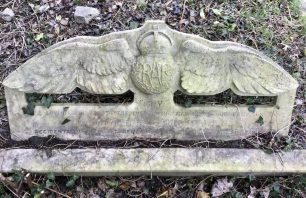 The grave stone of Flying Officer Shepard. St. Laurence's churchyard, Hillingdon. Photo: 4/02/2020.  | Linda Duffield