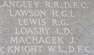 F/O Raymond Grant Lewis remembered on the Runnymede Memorial.   Jane Collman Williams