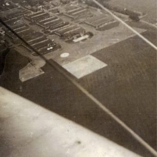An aerial view of RAF Kenley taken by William Terence Clark of No.615 Squadron.   Gerry Burke