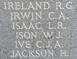 Sgt. Isaac remembered on the Runnymede Memorial. | Jane Collman Williams