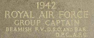 Group Captain Beamish remembered on the Runnymede Memorial. | Jane Collman Williams