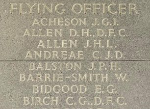 F/O Andreae remembered at theRunnymede Memorial.   Jane Collman Williams