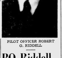Pilot Officer Robert Gordon Riddell