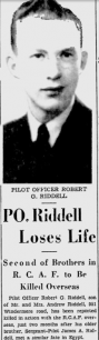 Pilot Officer Robert Gordon Riddell