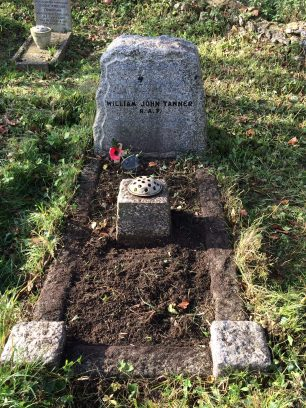 The grave of LAC William John Tanner at St. John's, Coulsdon.  | Tracy Conran