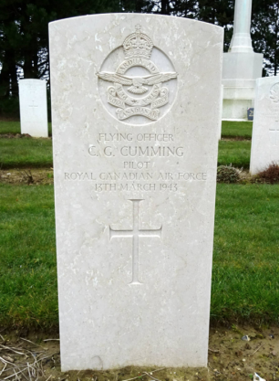 The grave of Charles Gordon Cumming at Calais Canadian War Cemetery. | Operation Picture Me