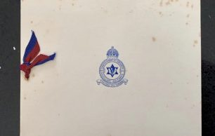 RAF Kenley Christmas Card which belonged to William Terence Clark DFM